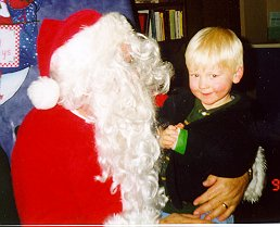 Matthew, Santa, & Broken Arm